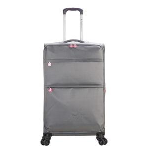 Šedé zavazadlo na 4 kolečkách Lulucastagnette Luciana, 71l