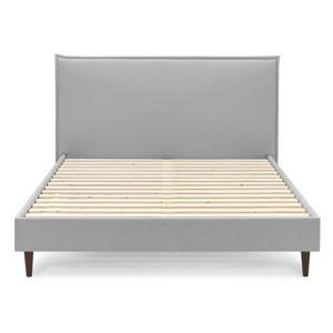 Šedá dvoulůžková postel Bobochic Paris Sary Dark, 160 x 200 cm