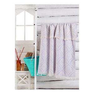 Světle fialový ručník Varak, 180 x 100 cm