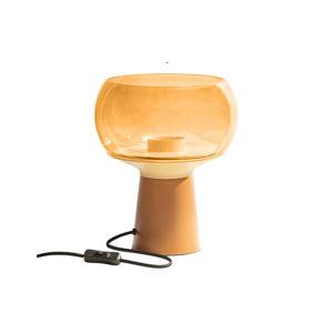 Oranžová kovová stolní lampa BePureHome, výška 28 cm