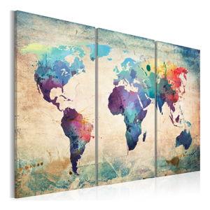 Vícedílný obraz na plátně Bimago Rainbow Map 120x80cm