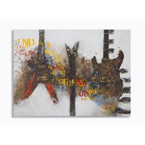 Nástěnná malba GUITARS ARTY 120x3,5x90