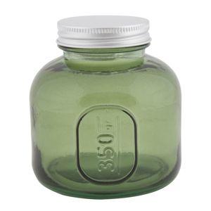 Nízká sklenice s krytím z recyklovaného skla GREEN 9x10 ze španělska