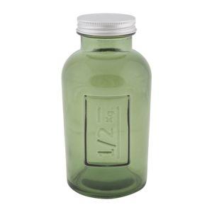 Vysoká sklenice s krytím z recyklovaného skla GREEN 8,5x16,5 ze španělska