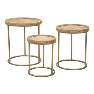 Konferenční stolní set - 3ks 51x51x60-44x44x55-37x37x46