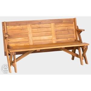Teaková rozkládací lavice skládací lavice-stůl MORENO