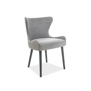 Židle PASSO antracit/šedá polstrování č.112