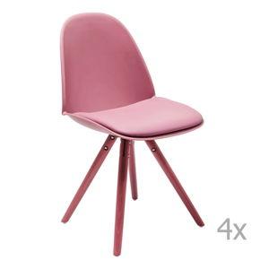 Sada 4 růžových jídelních židlí Kare Design CandyWorld