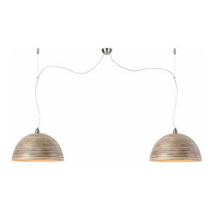 Hnědé závěsné dvojité světlo z bambusu Good&Mojo Halong