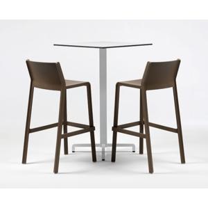 TRILL barová židle: polypropylén bílá