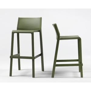 TRILL barová židle MINI NARDI: polypropylén tmavošedá