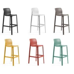 Barová židle NET: polypropylén antracitová