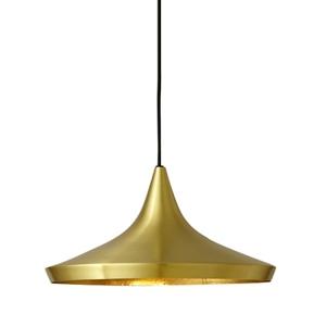 Závěsná lampa BET SHADE WIDE zlatá - zlatý střed