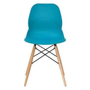 Židle LEAF DSW PREMIUM tyrkysová - polypropylén, bukový základ