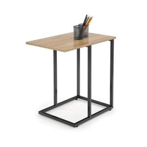 NARVIK STOLEK1 stolek černý / dub Sonoma