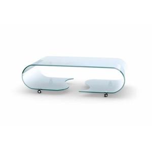 PENELOPE stolek ohýbané sklo transparentní