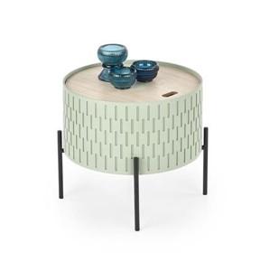 SINTRA stolek s úložným prostorem zelený / černý