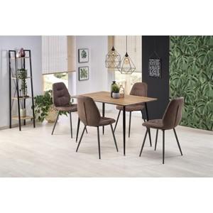 ARTTI stůl deska - ořechová, kostra - černá