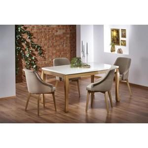 DONOVAN stůl barva deska - dub přírodní, nohy - dub Craft (140-210x90x75 cm)