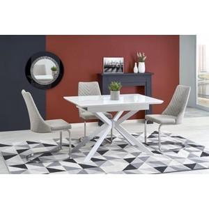 HARPER stůl rozkládací deska - super bílá, nohy - bílé