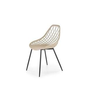 K330 židle nohy - černé, sedadlo - béžové