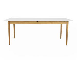 Bílý rozkládací jídelní stůl Tenzo Svea, 90x195cm