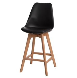 Barová židle Norden Wood Low PP černý