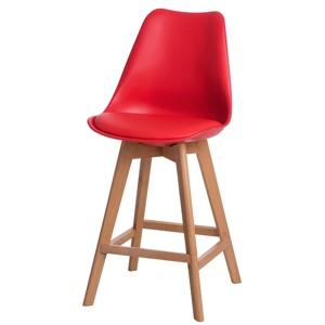 Barová židle Norden Wood Low PP červený