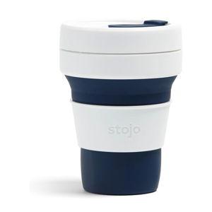 Bílo-tmavě modrý skládací hrnek Stojo Pocket Cup, 355 ml