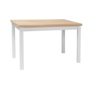 Stůl ADAM dub/bílý mat 100x60