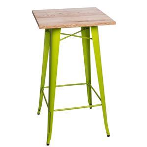 Stůl barový PARIS WOOD světle zelený jasan