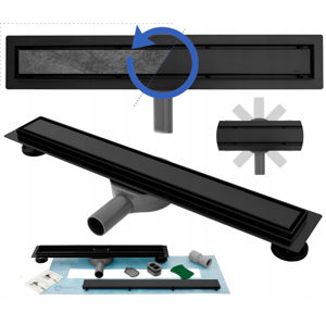 Odtok liniový NEO PRO 2v1 černý |Varianta produktu - 80 cm