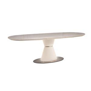 Stůl ENIGMA Ceramic bílý mat 160(210)x90