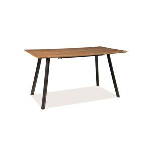 Stůl MANO dub/černá kostra 140x80