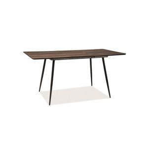 Stůl REMUS II ořech/černá kostra 120(160)x80