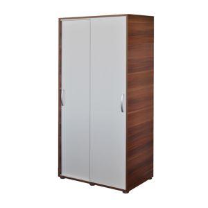 Skříň s posuvnými dveřmi 65641 ořech/bílá
