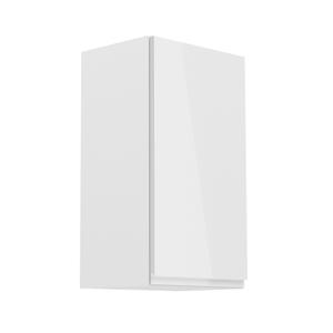 Horní skříňka, bílá / bílý extra vysoký lesk, pravá, AURORA G40