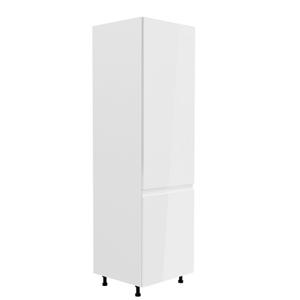 Potravinová skříňka, bílá / bílá extra vysoký lesk, pravá, AURORA D60R
