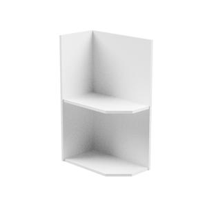 Spodní skříňka, bílá, levá, AURORA D25PZ