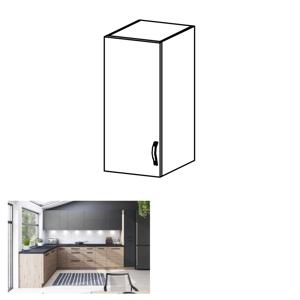 Horní skříňka, dub artisan/šedý mat, levá, LANGEN G30