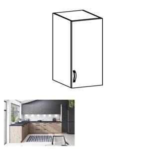 Horní skříňka, dub artisan/šedý mat, pravá, LANGEN G40