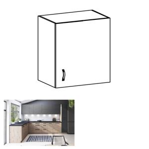 Horní skříňka, dub artisan/šedý mat, pravá, LANGEN G60G