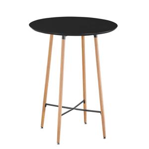 Barový stůl, černá/dub, IMAM