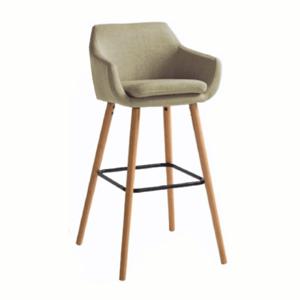 Barová židle, béžová látka / buk, Tahira