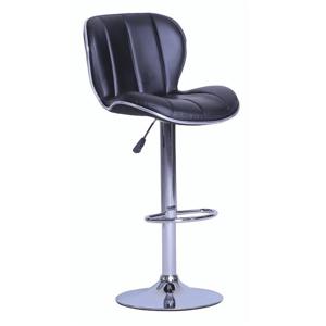 Barová židle, černá / chromovaná, DUENA