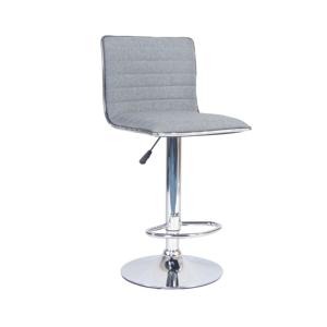 Barová židle, šedá / chrom, PINAR