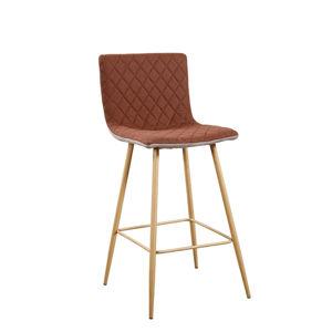 Barová židle, světlehnědá/hnědá/buk, TORANA