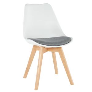 Židle, bílá / šedá, DAMARA