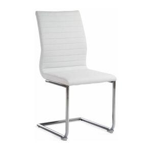 Židle, bílá ekokůže / chrom, OTILA