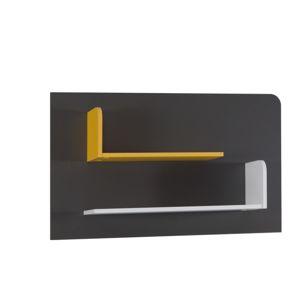 Police B6, bílá/šedý grafit/enigma/žlutá, MATEL